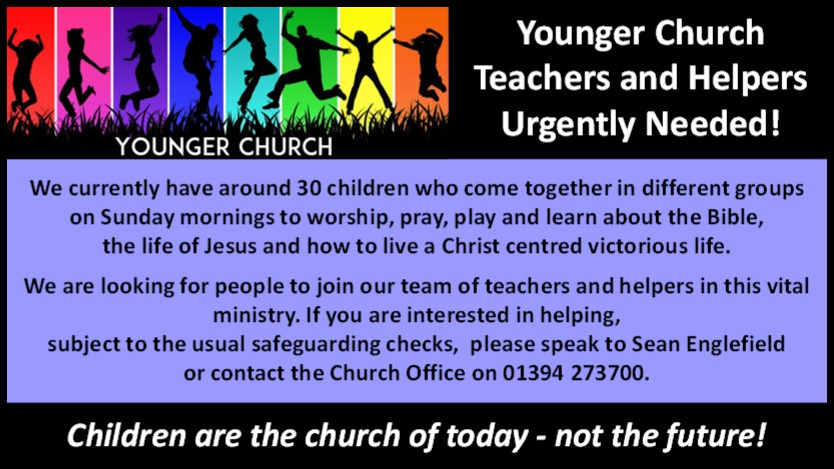Younger Church Help Required