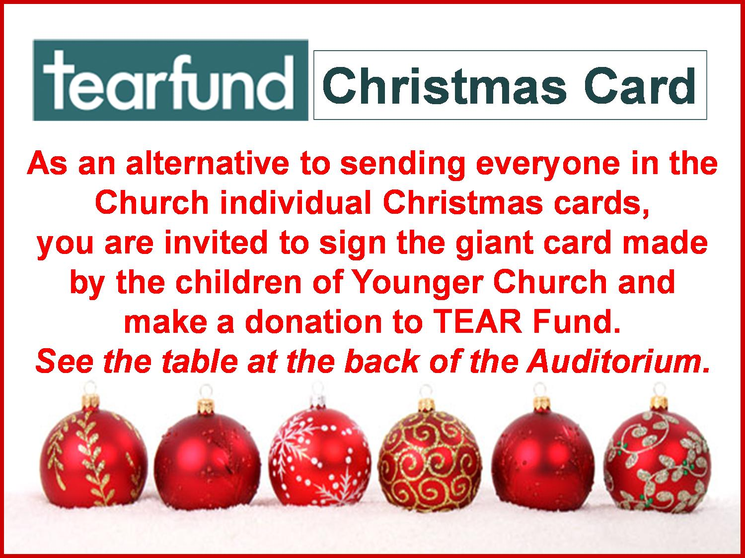 Tearfund Christmas Card